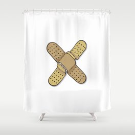The X Letter Shower Curtain