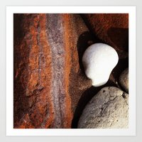 geology Art Prints featuring Beach geology by Geométrica