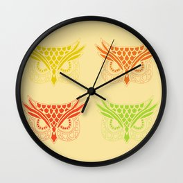 Owl Tribe Wall Clock