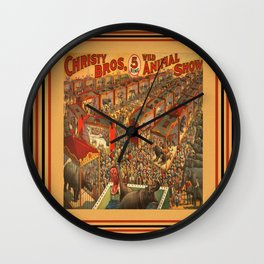Illustrated Circus Poster Wall Clock