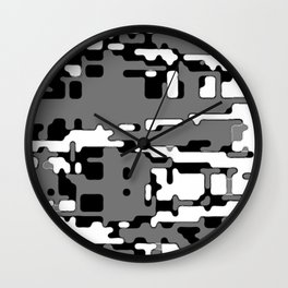 jitter, b&w 8 Wall Clock