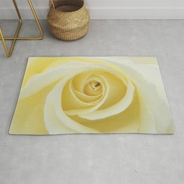 Beautiful Yellow Rose Rug