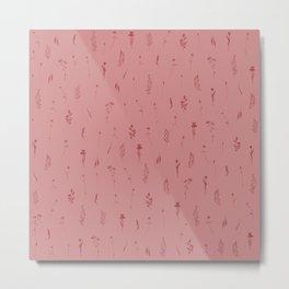 Wildflowers V - Pink & Red Metal Print