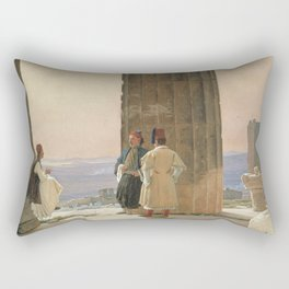 Martinus Rørbye - The View from the Temple of Athena on the Acropolis Rectangular Pillow