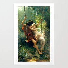 Spring by Pierre Auguste Cot Art Print