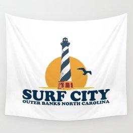 Surf City - North Carolina. Wall Tapestry