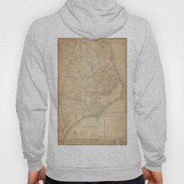 Vintage Map of Eastern North Carolina (1862) Hoody