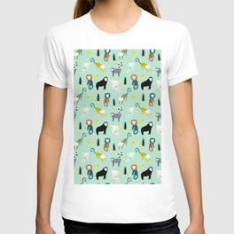 monkey Animals Prints patterns T-shirt