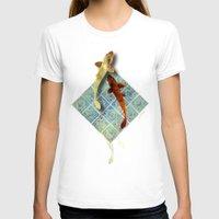 koi T-shirts featuring Koi by Elsa Herrera-Quinonez