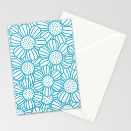 Field of daisies - teal Stationery Cards