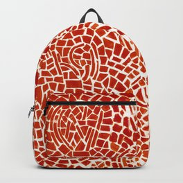 Alma Thomas, Untitled (Music Series), Red Roses & Musical Notes African American portrait painting Backpack