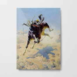 "William Leigh Western Art ""A Fighting Cyclone"" Metal Print"