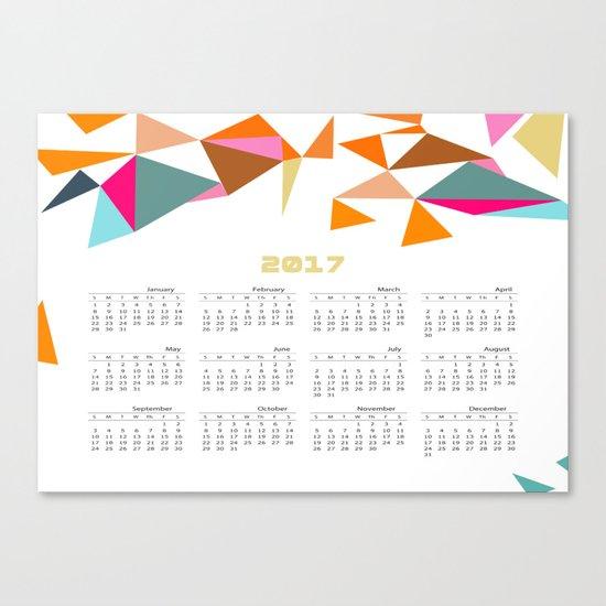 Calendar 2017 Canvas Print