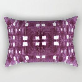 Shibori City Plum Wine Rectangular Pillow