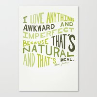 marc jacobs Canvas Prints featuring I Love Anything Awkward and Imperfect Because That's Natural and That's Real - Marc Jacobs by One Curious Chip