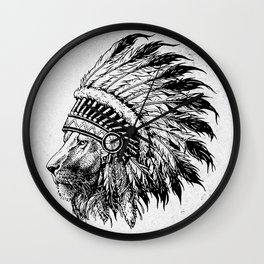 LION FEATHER Wall Clock