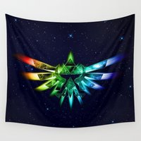 triforce Wall Tapestries featuring Zelda - Triforce full color by alifart