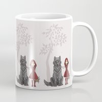 red hood Mugs featuring Red Hood by MonsterBot