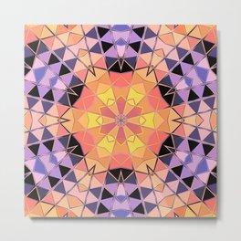 orange violet black hexagon Metal Print