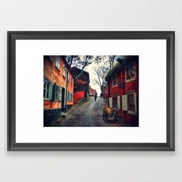 Paint it red Framed Art Print