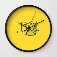 brasil Wall Clocks featuring BRASIL by Roberlan Borges