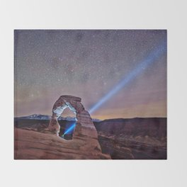Starry Night Pointer Throw Blanket