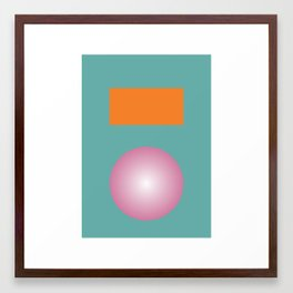 Gradient V1 Framed Art Print