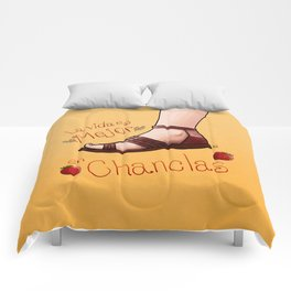 La vida es mejor en chanclas Comforters