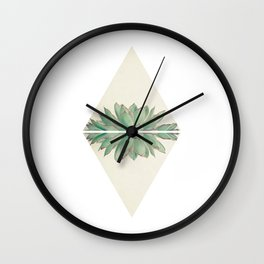 Echeveria II Wall Clock