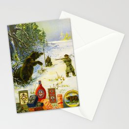 Vintage Russian Gunpowder Advertisement Stationery Cards