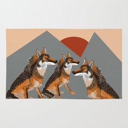 Wolves of the World: Iberian wolf (GREFA) Rug