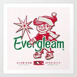 Frosty the Evergleam Elf Art Print