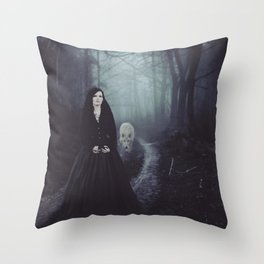 Seven Days To The Wolves Nightwish Inspired Artwork Throw Pillow