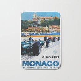 Gran Prix de Monaco, 1966, original vintage poster Bath Mat