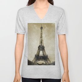 Paris Flea Market Unisex V-Neck