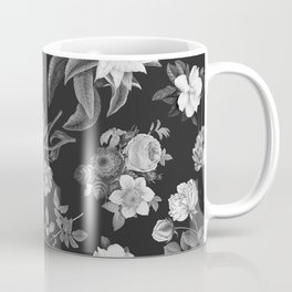 Vintage flowers on black Coffee Mug