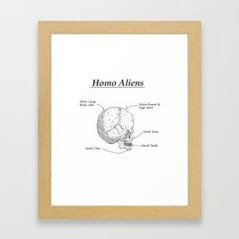 Homo Aliens Framed Art Print