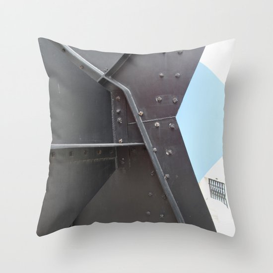 Peggy Guggenheim court yard Throw Pillow