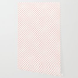 Pink Coral Checkers Wallpaper