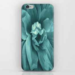 Soft Teal Flower iPhone Skin