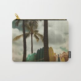 Surfing Waikiki Carry-All Pouch