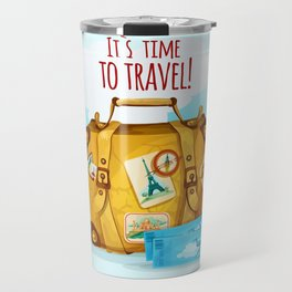 Travel Concept With Suitcase Travel Mug