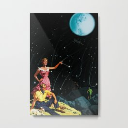 Luxurious Lunar Larking Metal Print