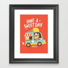 Ice Cream Bear Framed Art Print