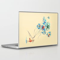 whimsical Laptop & iPad Skins featuring Water Balloons by Alice X. Zhang