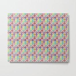 Circle grid pastel pattern home decor pop art Metal Print