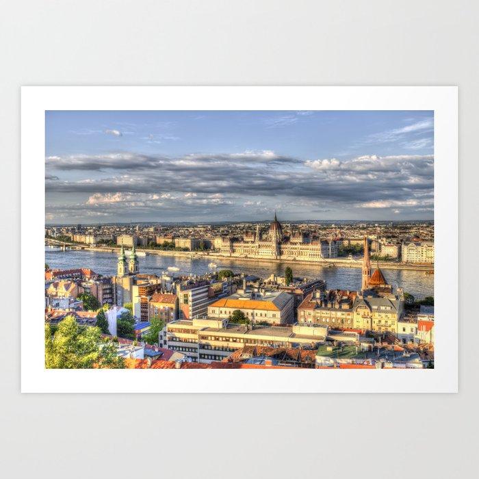 Budapest City View Art Print