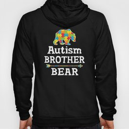 Cute Autism Awareness Brother Bear Hoody