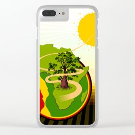 Africa Brasil from Sun to Earth Clear iPhone Case