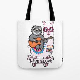 Sloth and Llama Tote Bag
